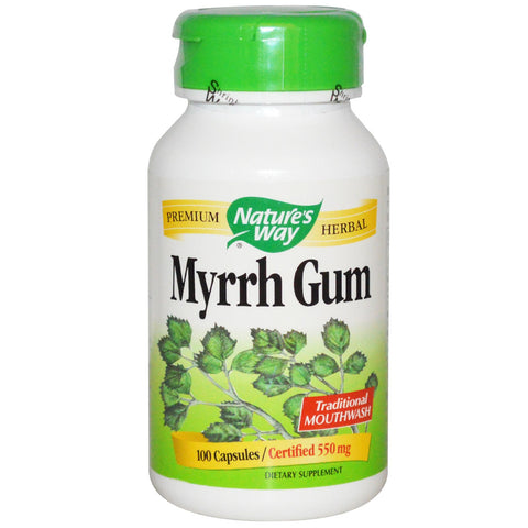 Nature's Way Myrrh gum 550mg 100 cap, , Vitamins and Supplements, Nature's Way, Brentwood Health and Wellness