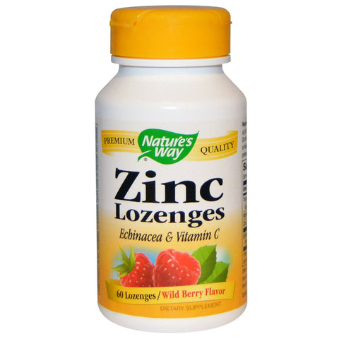 Nature's Way Zinc 60 lozenges, , Vitamins and Supplements, Nature's Way, Brentwood Health and Wellness