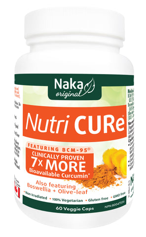Naka Nutri Cure Curcumin 60 caps, Vitamins and Supplements, Naka - Brentwood Health and Wellness