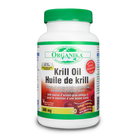 Organika Krill Oil 500mg 90 Capsules, , Vitamins and Supplements, Organika, Brentwood Health and Wellness