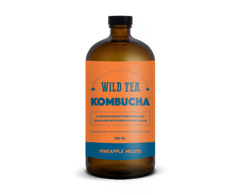Wild Tea Kombucha Pineapple Mojito