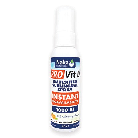 Naka Pro Vit D Emulsified Sublingual Spray 60ml 1000IU, Vitamins and Supplements, Naka - Brentwood Health and Wellness