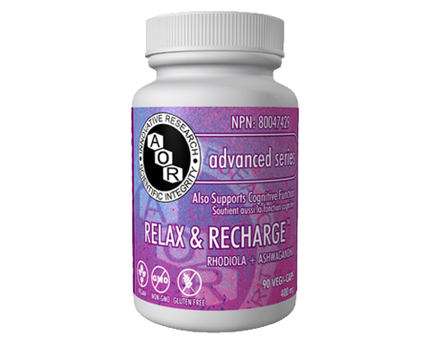 A.O.R. Relax and Recharge 400mg 90 Capsules, , Herbs, A.O.R., Brentwood Health and Wellness