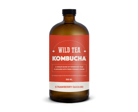 Wild Tea Kombucha Strawberry Daiquiri