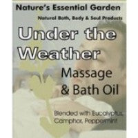 Nature's Essential Garden Under the Weather Massage & Bath Oil 240ml, , Aromatherapy and Essential Oils, Nature's Essential Garden, Brentwood Health and Wellness