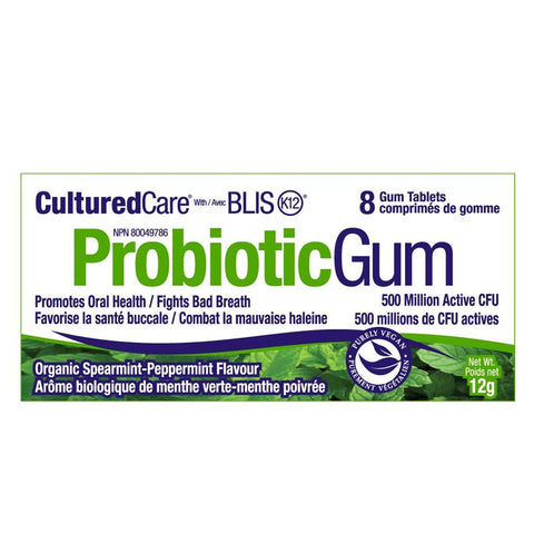 Prairie Naturals Probiotic Gum 8 Pieces per pack, Vitamins and Supplements, Prairie Naturals - Brentwood Health and Wellness
