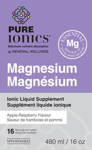 Renewal Wellness Pure Ionics Magnesium Liquid 480ml Bottle, , Vitamins and Supplements, Renewal Wellness, Brentwood Health and Wellness