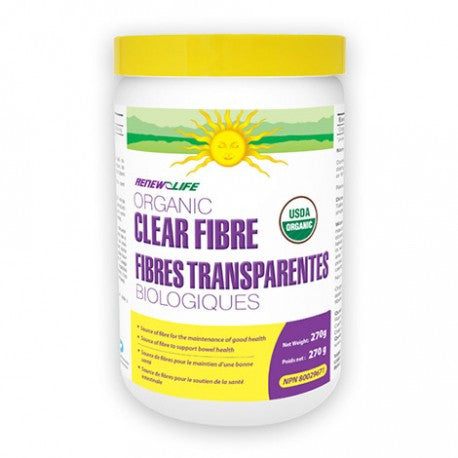 Renew Life Organic Clear Fibre 270 g, Vitamins and Supplements, Renew Life - Brentwood Health and Wellness