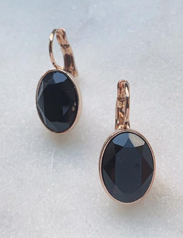 Millo earrings black oval