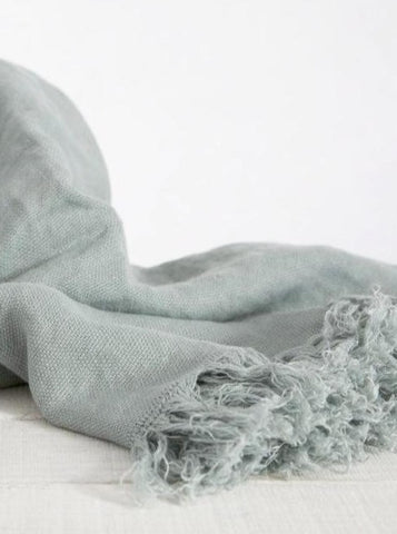 Linen Throw Duck Egg