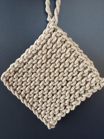 Linen rope pot holder