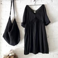 Molly dress Black Linen