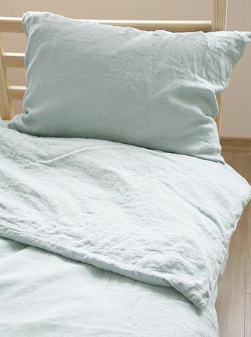 Single linen duvet cover set