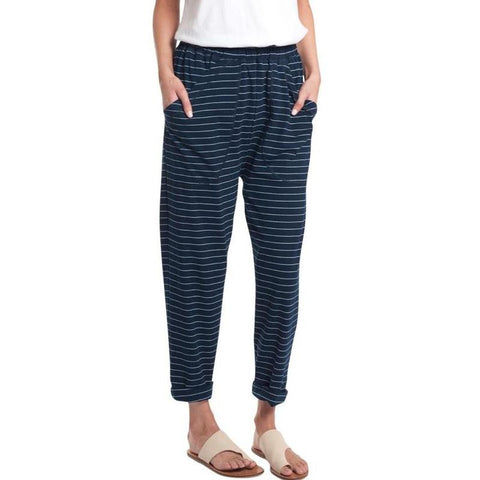 Stripe slouchy roll up pants