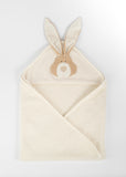 Organic cotton towel hood bunny