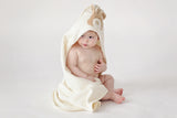 Organic cotton towel hood teddy