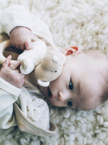 Rattle teddy with teething ring