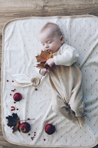 Organic cotton velour sleepsuit