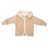 Organic cotton velour jacket (Available in 2 colours)