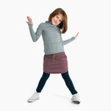 Mello Merino/Cotton Tracky Skirt Plum