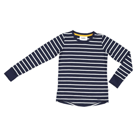 Mello Merino long sleeve tee stripe