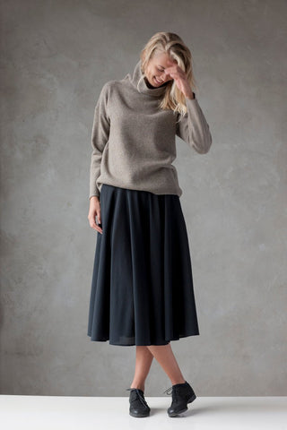 Wool Button Sweater