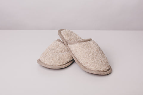 Linen flax slippers