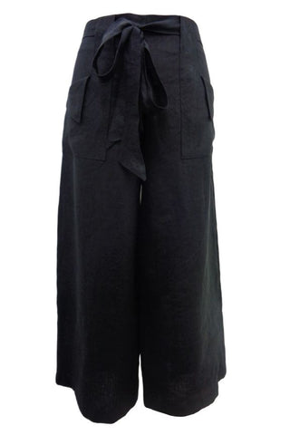 Laungers linen pants black