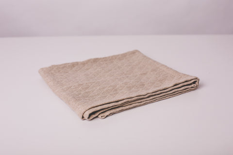 Linen tea towel rhomb