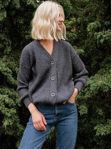 Organic Merino Cardi With Buttons (Available in 3 colours)