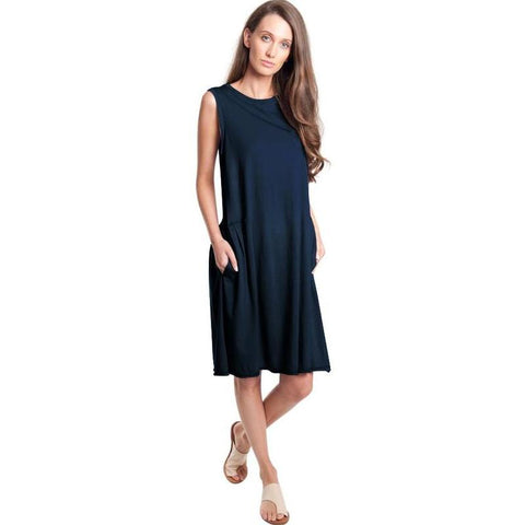 Side tuck tank dress