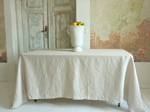 Table cloth Oatmeal 100% Linen (2 sizes available)