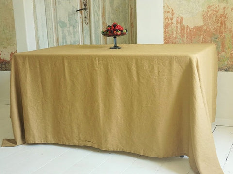 Table cloth Light Mustard 100% Linen (2 sizes available)