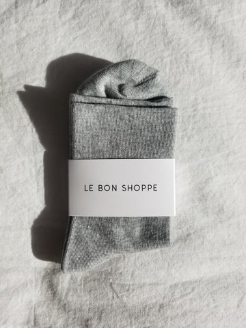 Le Bon Shoppe Sneaker Socks Grey