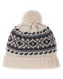 Wool hat with pompom (Available in 3 colours)