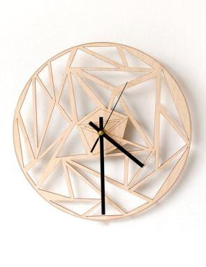 Plywood Wall Clock Geo