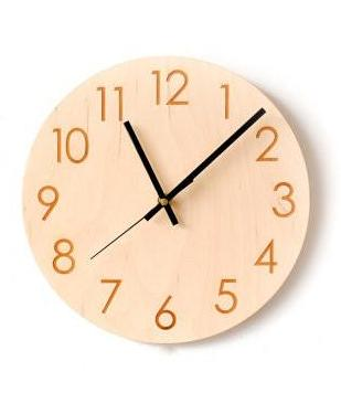 Plywood Wall Clock Simple
