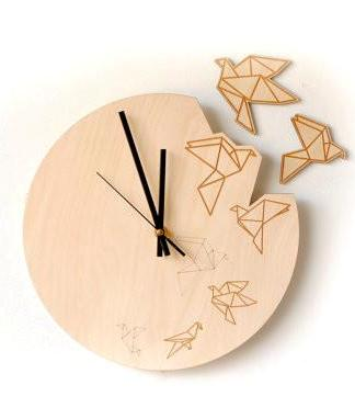 Plywood Wall Clock Origami