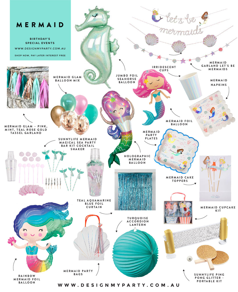 Mermaid Party Theme, Mermaid party decorations