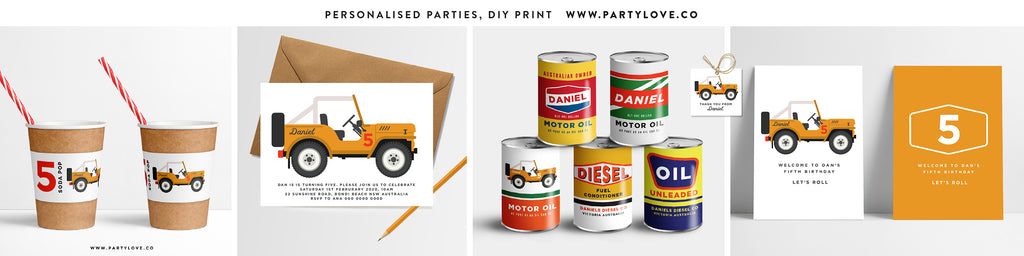 jeep suzuki party invitations