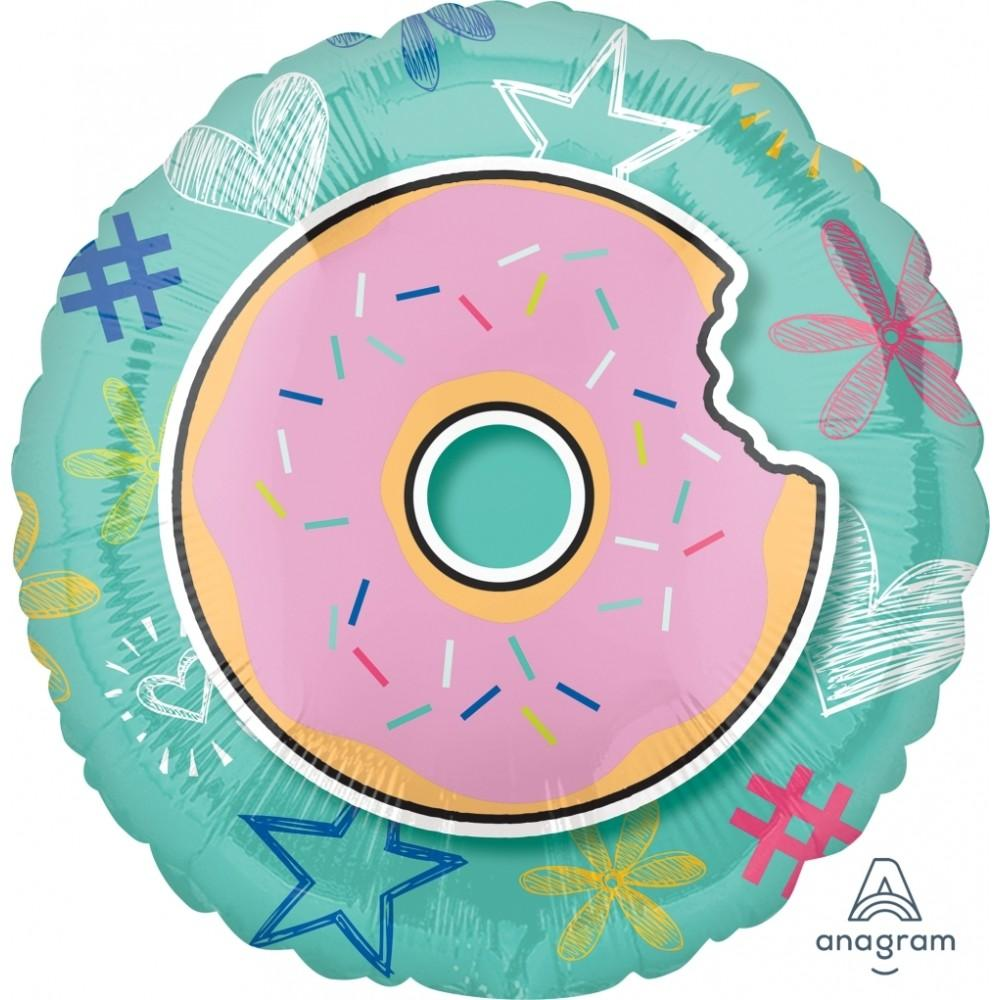 "18"" (46cm) Selfie Celebration Foil Balloon - Donut (Free when cart reaches $65)-Party Love"
