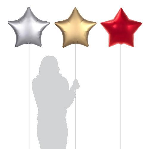 "18"" (46cm) Silver, Gold, Red Foil Balloons (3 Pack) PL012-Party Love"