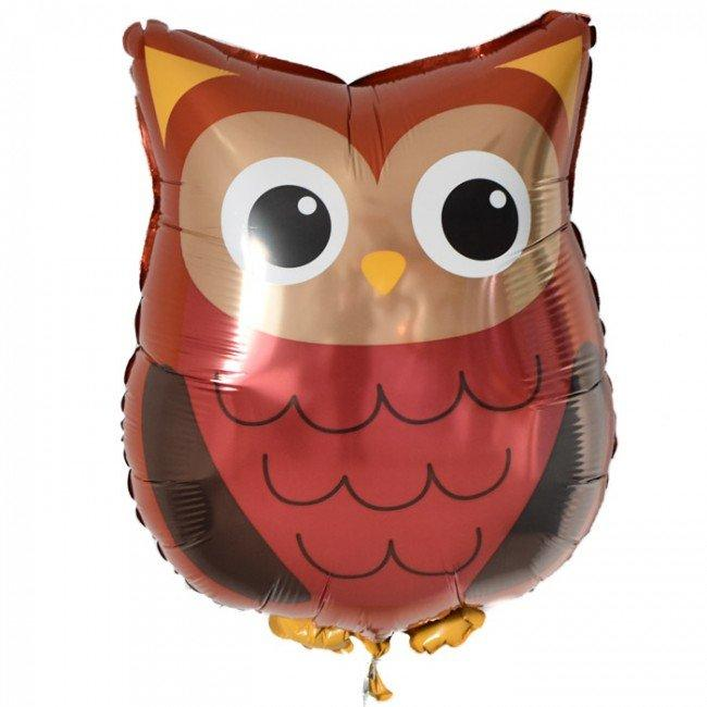 "26"" (66cm) Jumbo Woodland Owl Foil Balloon-Party Love"