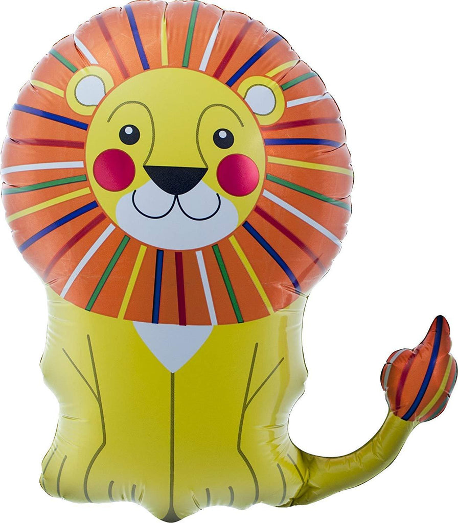 "28"" Lion Foil Balloon (71cm)-Party Love"