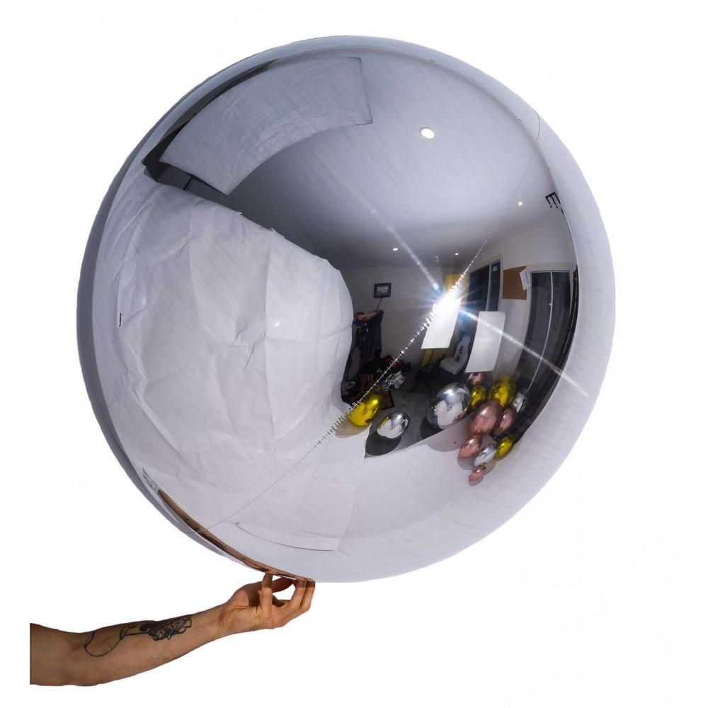 "32"" (82cm) Silver Balloon Ball Orbz-Party Love"