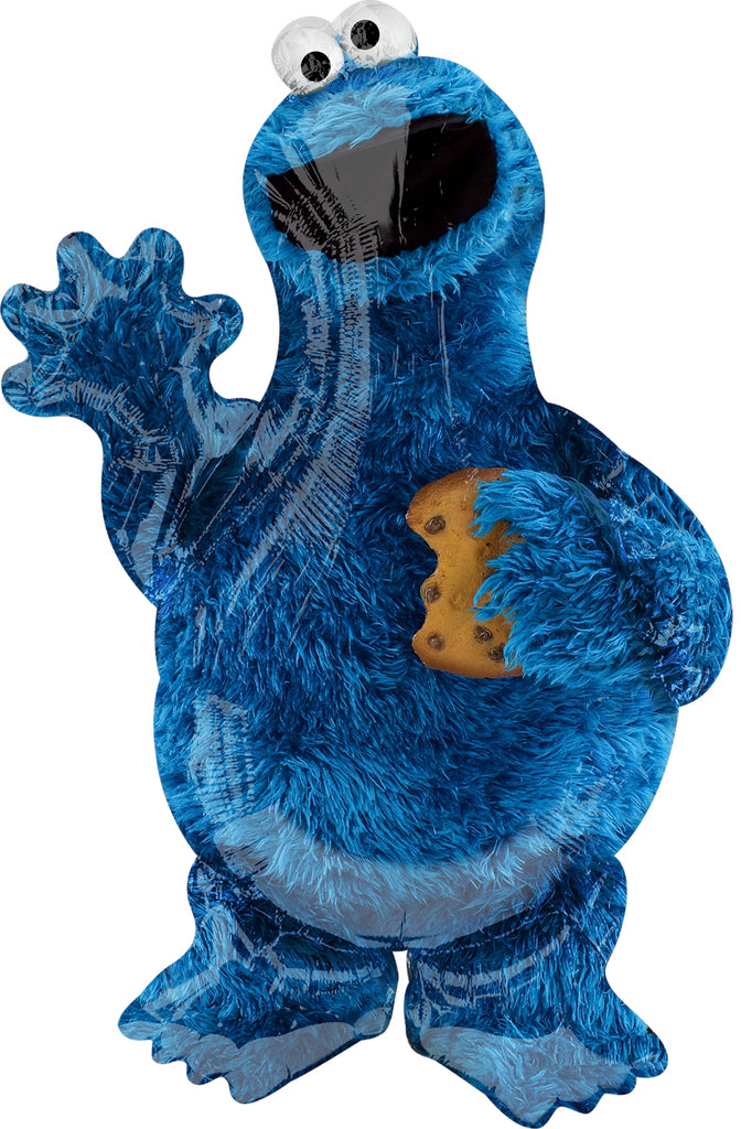 Sesame Street Cookie Monster Foil Balloon (58cm x 88cm)-Party Love