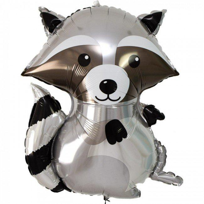 "36"" (92cm) Jumbo Woodland Raccoon Foil Balloon-Party Love"