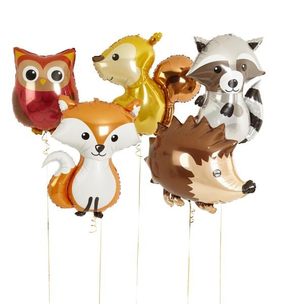 "36"" (92cm) Jumbo Woodland Squirrel Foil Balloon-Party Love"