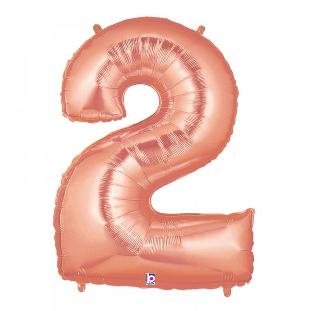 "40"" Megaloon Rose Pink Number 2 (100cm)-Party Love"