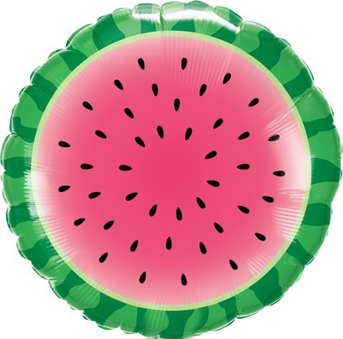 "45cm (18"") Sliced Watermelon Foil Balloon-Party Love"